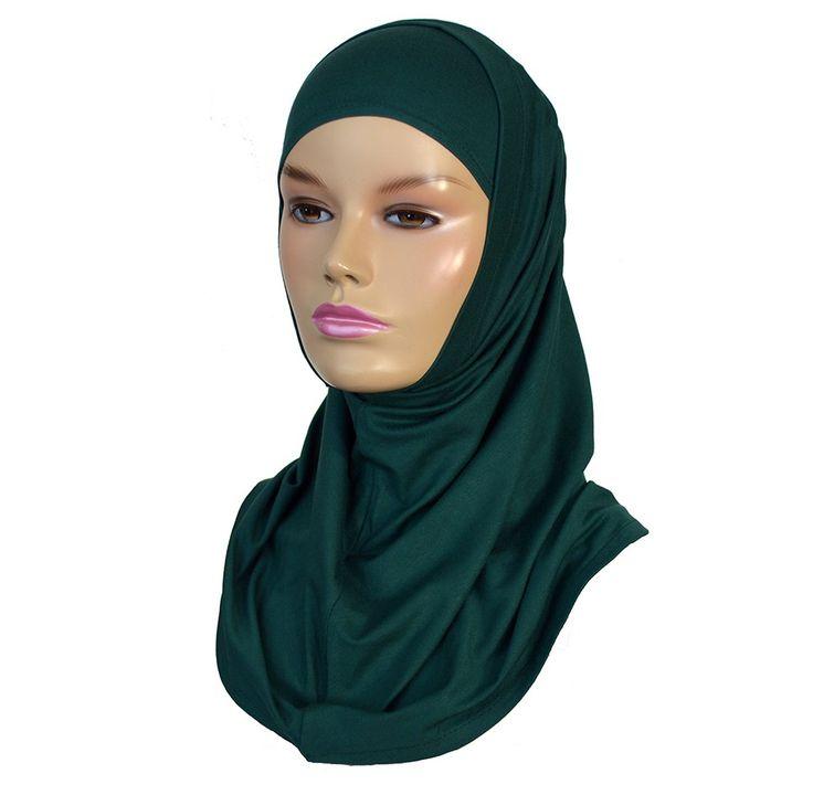 Two piece amira hijab forest green - Hijab Now £ 4.99