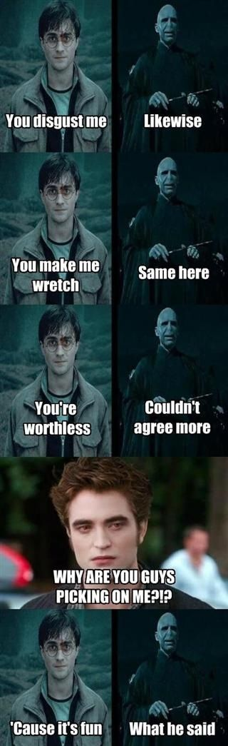Funny even though I love Rob and Harry Potter