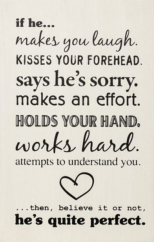 If he makes you laugh..