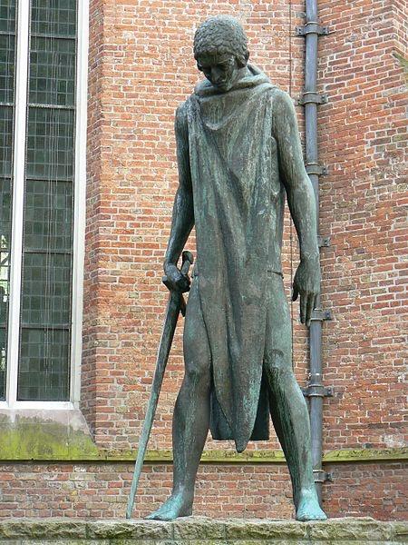 Sculpture St. Joris en de draak Wenckebach Groningen