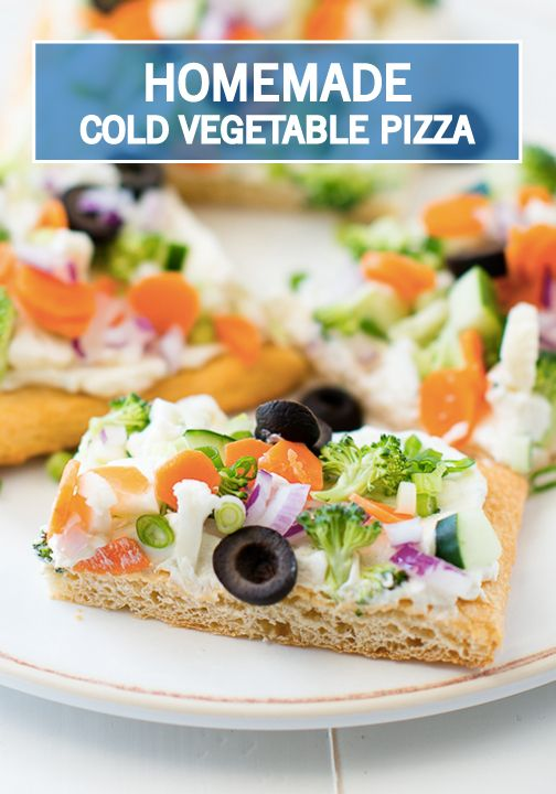 For A Fresh Summer Appetizer Try This Cold Vegetable Pizza Recipe Cream
