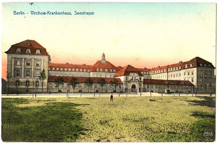 Berlin Rudolf-Virchow-Krankenhaus, Seestraße, Poststempel 15.07.1907 Postkarte