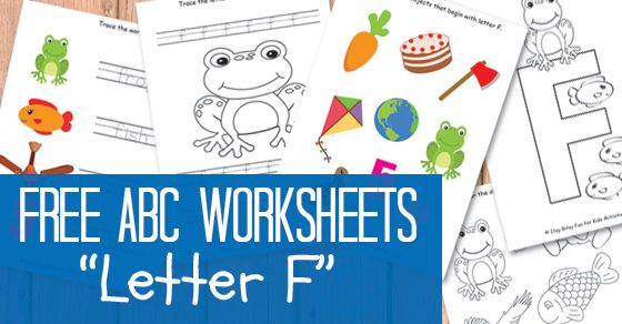 This week we're doing the letter Fworksheets! I believe alphabet should be learned through play and ABC learning games, but once your kids know the basics some paper and pen work is in order.  Letter FWorksheets F is for frog, f is for fish… F is also for fun and friendly, something we all …