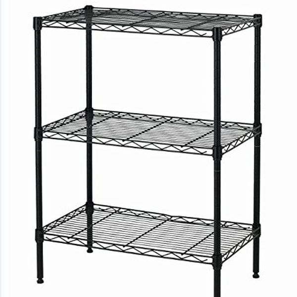 New Wire Shelving Cart Unit 3 Shelves Shelf Rack Layer Tier Wire