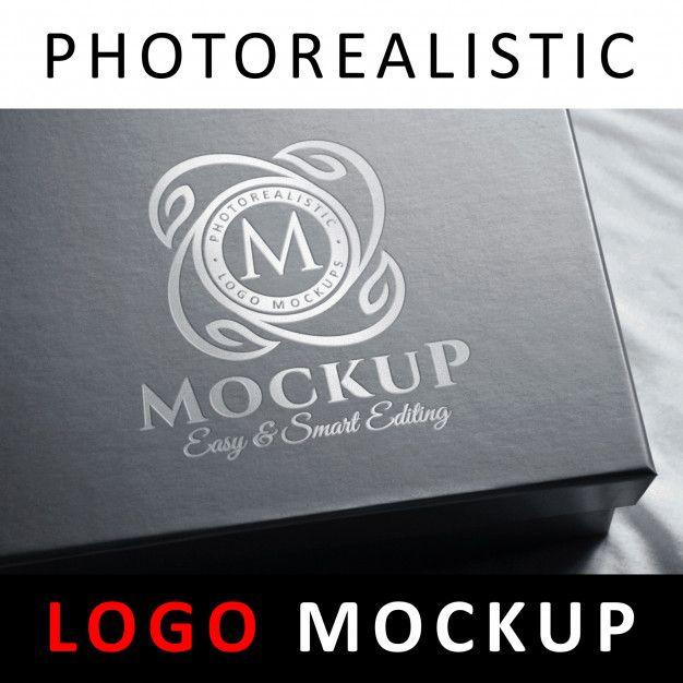 Download Logo Mock Up Silver Foil Stamping Logo On Black Box Foil Stamping Logo Mockup Mockup