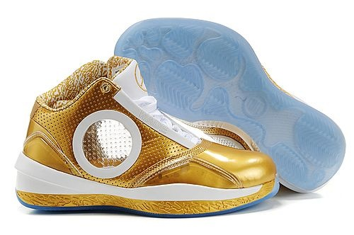 Dwyane Wade Shoes-Air Jordan 2010 Gold White Basketball Shoe