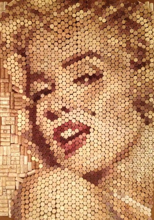 Saatchi Online Artist: Conrad Engelhardt; Other, 2012, Assemblage / Collage Marilyn Monroe