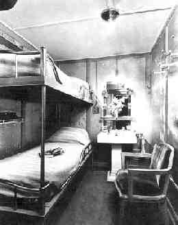 Titanic's 3rd class cabin. How are the accomaditions on 3rd class Mr. Dawson. They are fine Mame, hardley any rats.