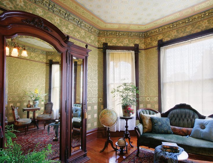 Bradbury & Bradbury Art Wallpapers > Victorian > The Aesthetic Movement > B.J. Talbert Roomset