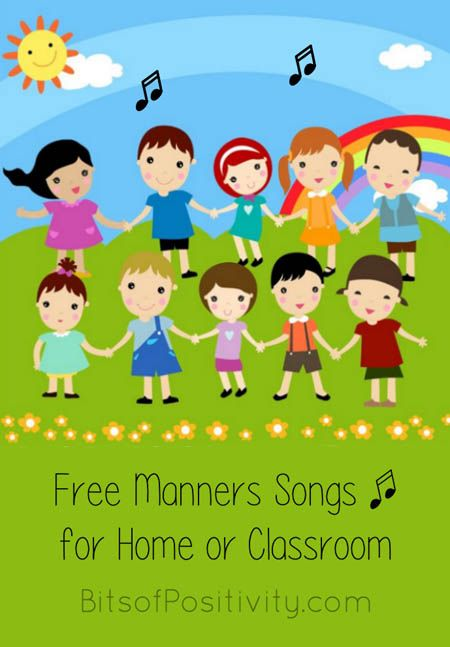 Free manners songs from YouTube along with manners songs, rhymes, and fingerplays with lyrics