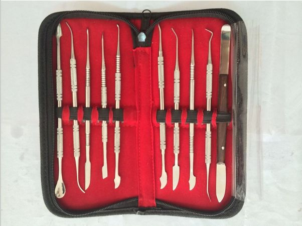 Find More Teeth Whitening Information about 10pcs/Set Dental Lab Stainless Steel Kit Wax Carving Tool Set Surgical Dental Instruments Wax Carving Tool Kit,High Quality tool seats,China tool kit bicycle Suppliers, Cheap tool kit with tools from Haodental on Aliexpress.com