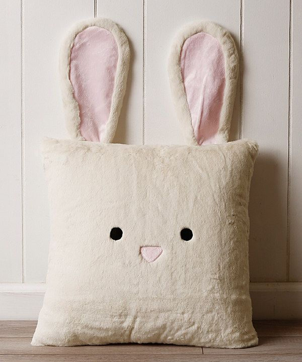 Look at this Cream Bunny Plush Faux Fur Pillow on #zulily today!