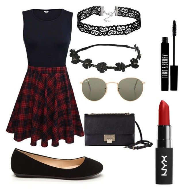 """#24"" by mercedes93 on Polyvore featuring moda, Jimmy Choo, Ray-Ban i Lord & Berry"