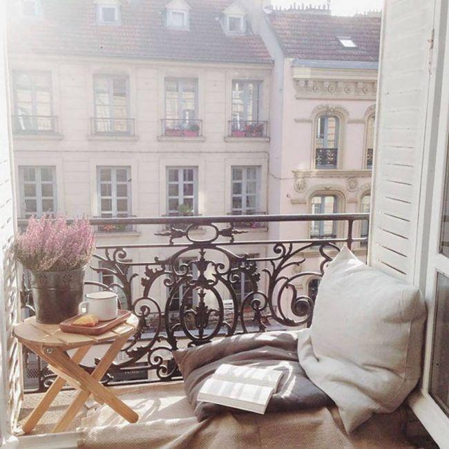 Ejemplo de aprovechamiento de balcón pequeño