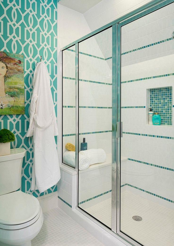 25+ melhores ideias sobre Banheiros Decorados Com Pastilhas no Pinterest  Ba -> Banheiro Com Pastilhas De Vidro Laranja