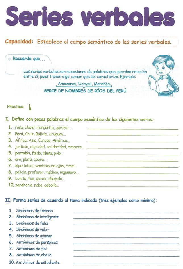 Razonamiento Verbal para Cuarto Grado de Primaria 4º PDF | Razonamiento Verbal