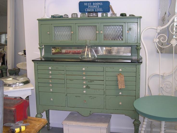 I Just Loved This Vintage Green Dental Cabinet.