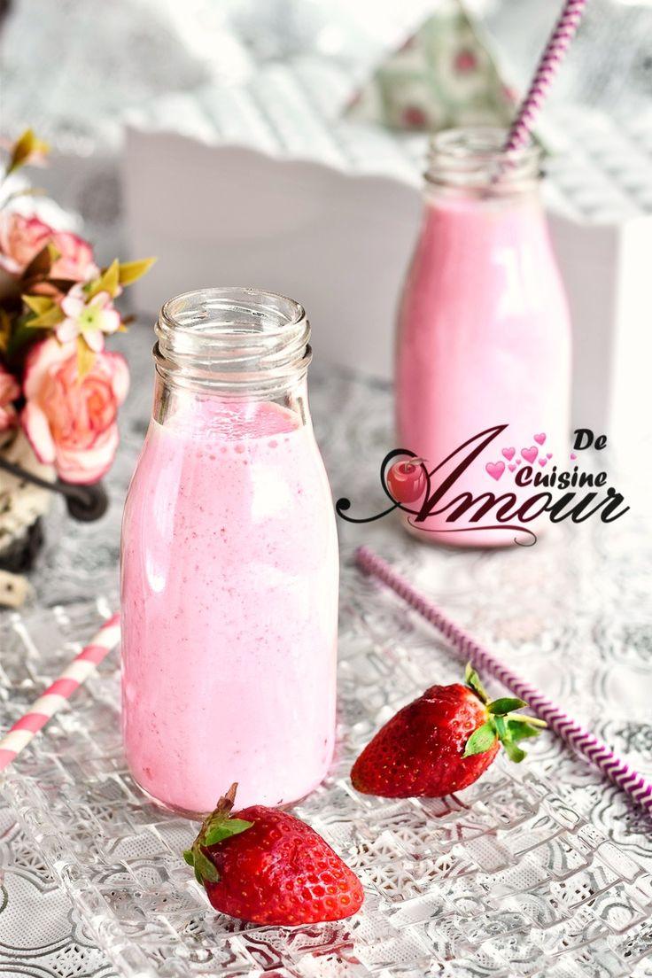 yaourt à boire aux fraises 11