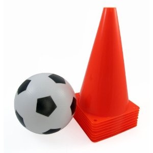 "Sports 9"" Soccer Field Safety Cone Markers, Set of 8 (Ball Included) (Misc.)  http://howtogetfaster.co.uk/jenks.php?p=B008D641TE  B008D641TE"
