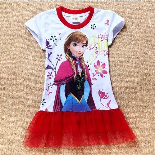 Frozen Short Red Girls Dress 2T- 6T. Starting at $10 on Tophatter.com!