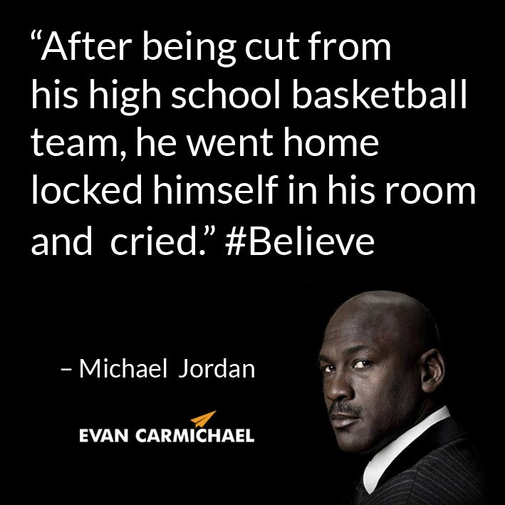 "Michael Jordan Quotes: ""After Being Cut From His High School Basketball Team, He"