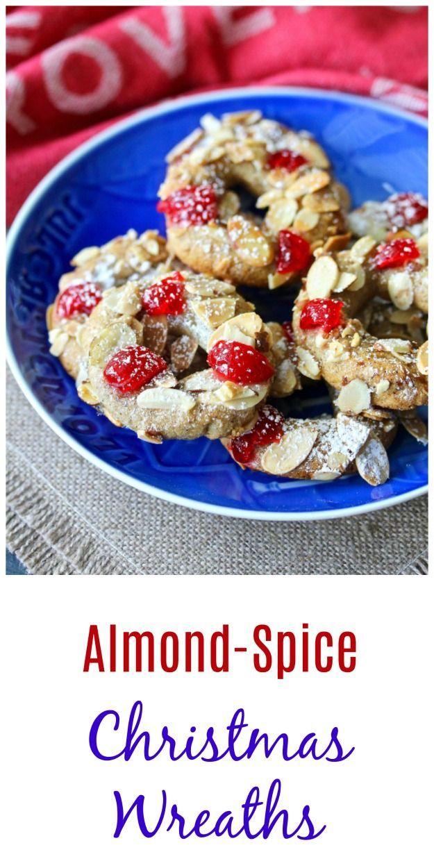 Almond Spice Christmas Wreath Cookies Recipe Cookies Cookies