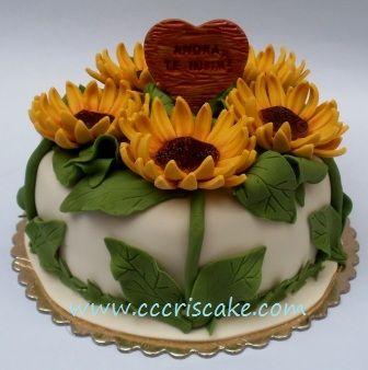 Torturi artistice: Sunflowers with love