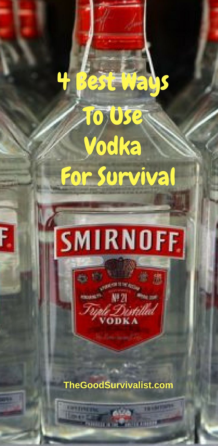 Vodka has a very high alcohol content which makes it a good substitute as a  medical supply should you have no other alternatives.   http://www.thegoodsurvivalist.com/best-8-ways-to-use-vodka-for-survival-purposes/