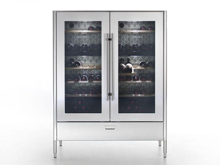 Hoher Weinkühlschrank mit Glastür LIBERI IN CUCINA | Hoher Weinkühlschrank - ALPES-INOX