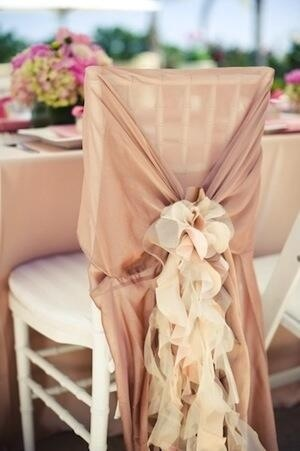Gorgeous floral wedding seat covers, simple and beautiful wedding decorations