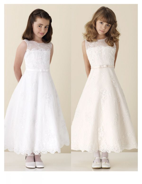 White size 6 beautiful for your Flower Girl - First Communion Dress.  $224.00