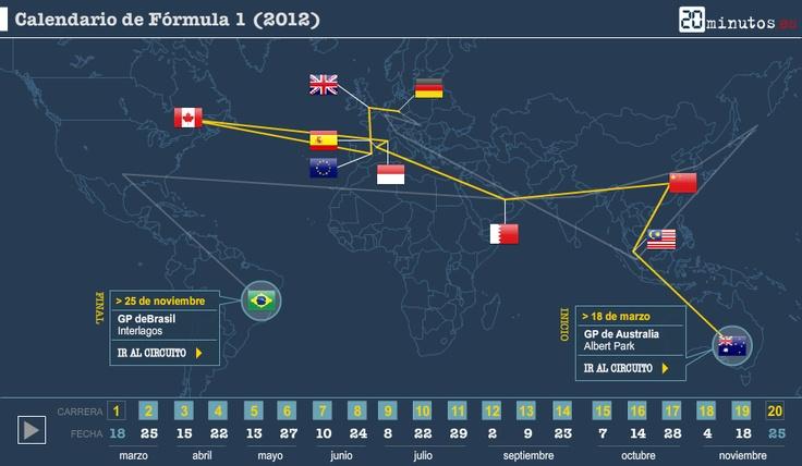Calendario de Fórmula 1 (2012)