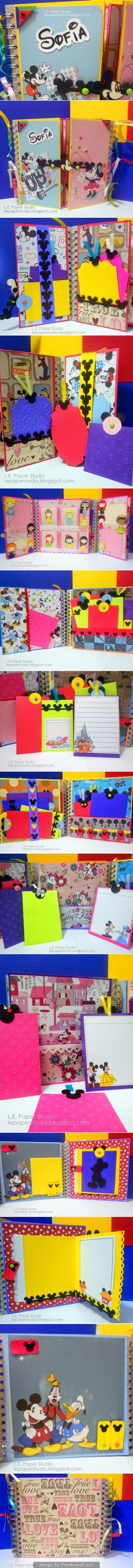 Disney scrapbook ideas - Disney