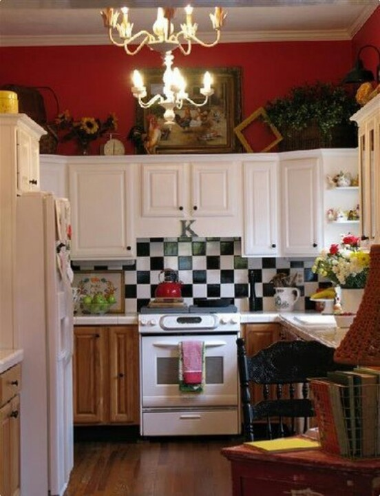I Actually Kind Of Like The Black And White Tile.home Design Colorful  Cottage Decorating Ideas In Red,yellow,blue,black U0026 White Red Black And  White Kitchen ... Part 89