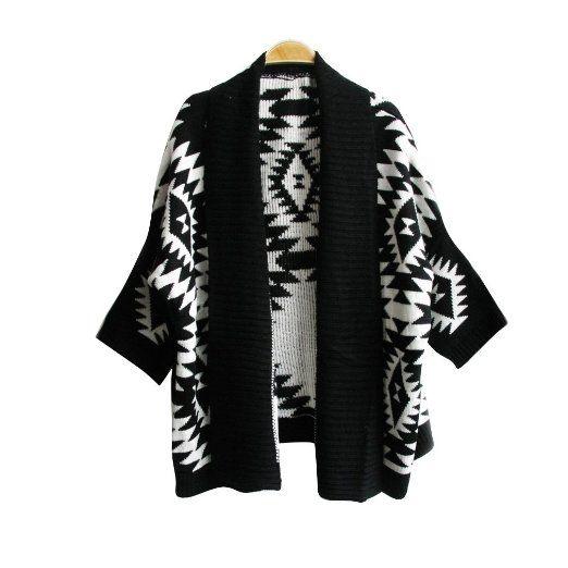 Amazon.com: Vobaga Women's Aztec Oversized Geometric Prints Batwing Cardigan Sweaters Apricot: Clothing