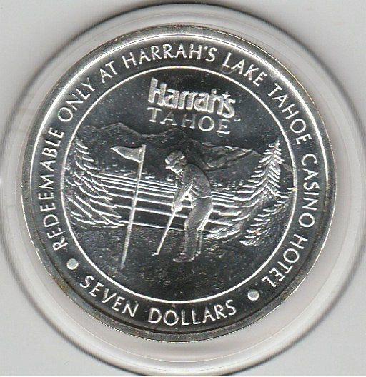 1993 Harrah's Casino Hotel Lake Tahoe, NV 0.6 troy ounces .999 Fine Silver Token Golfer LM Mint by VintageCasinoTokens on Etsy