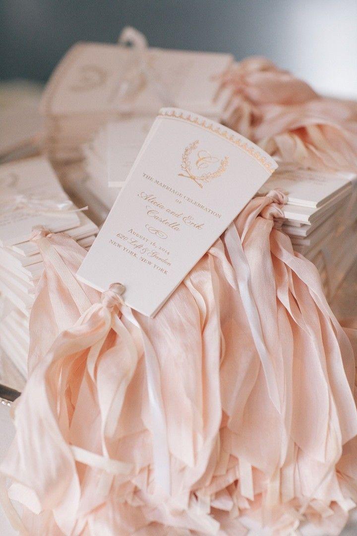 photo: Kelly Kollar Photography; wedding ceremony program idea