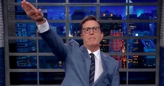 Outrage Grows After Stephen Colbert Gives Trump Nazi Salute | Zero Hedge