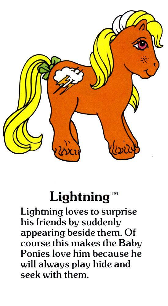 My Little Pony Lightning fact file ...