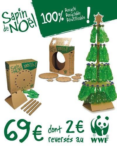 Alberi di Natale dal riciclo delle bottiglie di plastica - ALBERI DI NATALE dalle bottiglie di plastica FAI-DA-TE