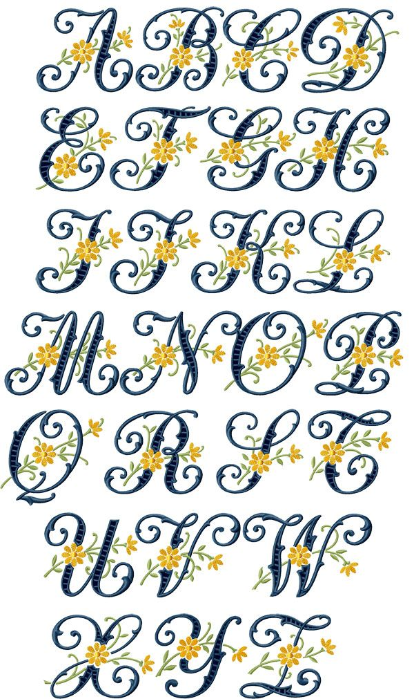 Free Embroidery Designs Letters | Floral Cutwork machine embroidery designs alphabet