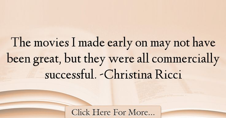 Christina Ricci Quotes About Movies - 49356