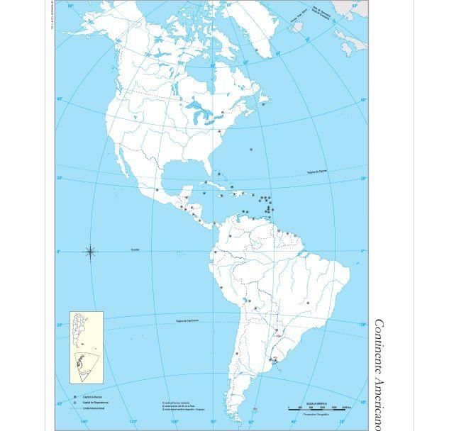 Mapa Politico Continente Americano Para Imprimir Buscar Con