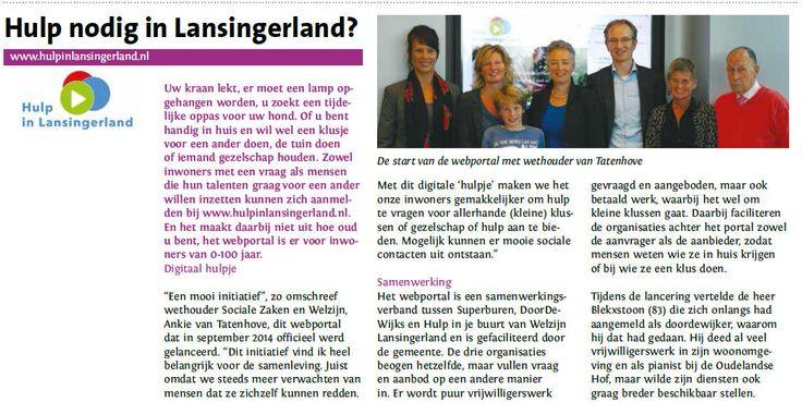 hulp nodig in Lansgingerland?