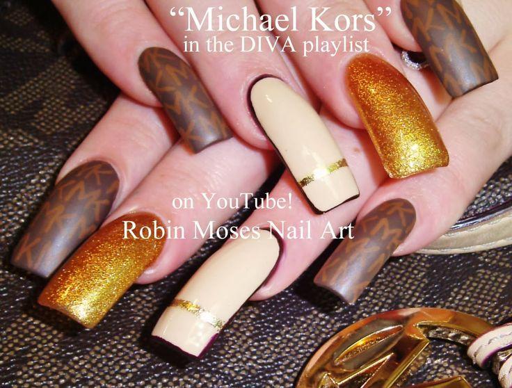 Nail-art by Robin Moses ----Michael Kors