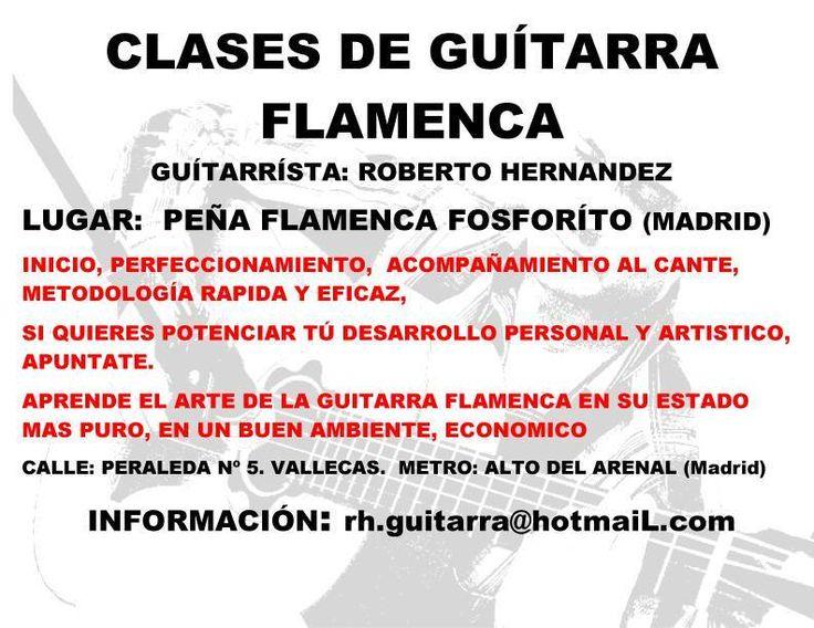 CLASES DE GUITARRA FLAMENCA EN MADRID. Fundación Guitarra Flamenca www.fundacionguitarraflamenca.com