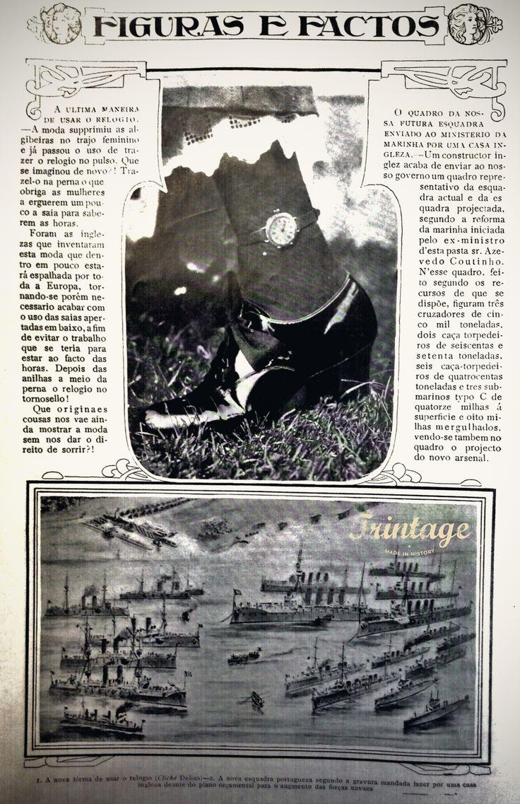 Modas de outros tempos!! Data de 1910.