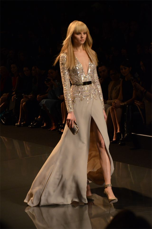 Ellie Saab Nude Sequinned Dress!