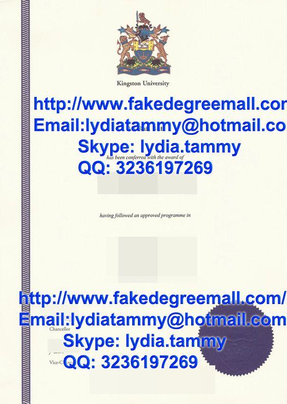 Order fake diploma, Buy fake Kingston University degree in UK