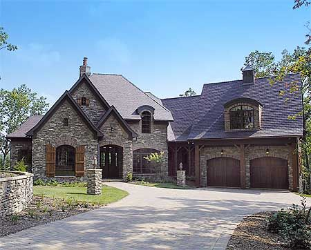 Love the arched dormer and window.  Great asymmetry!